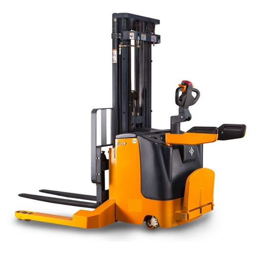Electric forklift stacker